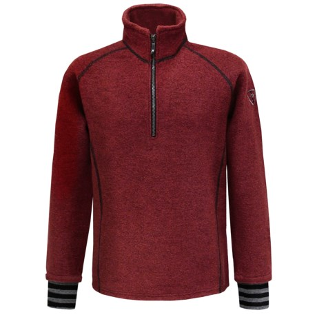 Ivanhoe Rune Boiled Wool Sweater - Zip Neck (For Men) in Red