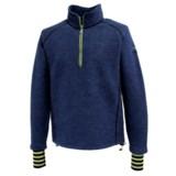 Ivanhoe Rune Boiled Wool Sweater - Zip Neck (For Men)