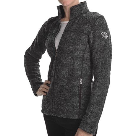 Ivanhoe Snowflake Jacquard Jacket - Boiled Wool (For Women) in Graphite Marl