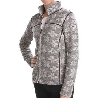 Ivanhoe Snowflake Jacquard Jacket - Boiled Wool (For Women) in Grey