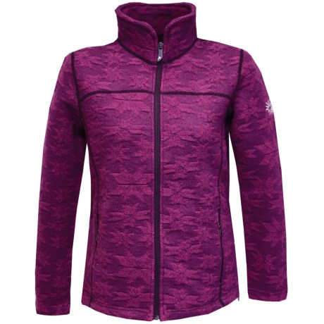 Ivanhoe Snowflake Jacquard Jacket - Boiled Wool (For Women) in Purple