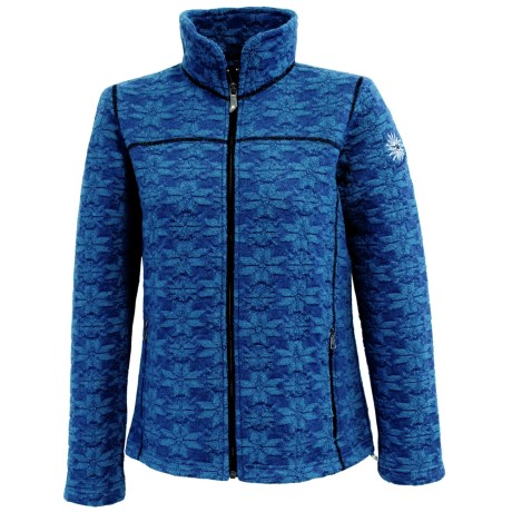 Ivanhoe Snowflake Jacquard Jacket - Boiled Wool (For Women) in Turquoise
