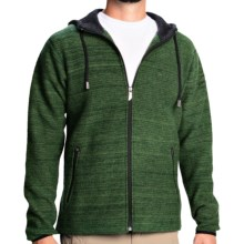 Ivanhoe Teo Boiled Wool Hoodie (For Men) in 421 Forest Green - Closeouts