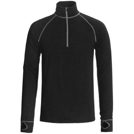 Ivanhoe Underwool Felix Lightweight Base Layer Top - Merino Wool, Zip Neck (For Men) in Felix Grey