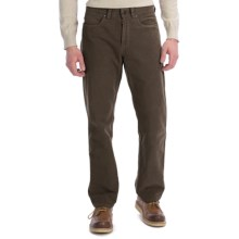 Ivory Cotton Moleskin Pants - 5-Pocket (For Men) in Dark Brown - Closeouts