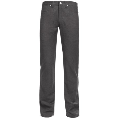 Ivory Wool Heather 5-Pocket Pants (For Men) in Moss