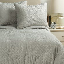Ivy Hill Home Allure Quilt Set - King in Grey - Overstock