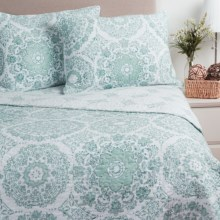 Ivy Hill Home Amara Quilt Set - Reversible, King in Spa Blue - Overstock