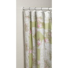 Ivy Hill Home Annette Shower Curtain - Cotton in Sage/White/Rose - Overstock