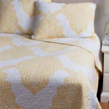 Ivy Hill Home Batik Reversible Quilt Set - Full/Queen in Yellow - Overstock