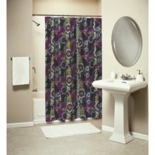 Ivy Hill Home Colonial Floral Paisley Shower Curtain - Cotton in Jewel Tone - Overstock