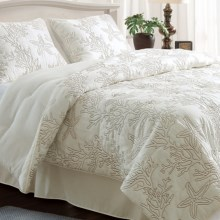 Ivy Hill Home Destin Comforter Set - 4-Piece, Queen in Ivory / Taupe - Overstock