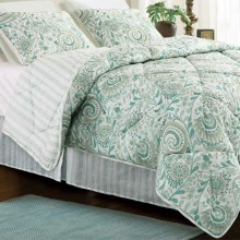 Ivy Hill Home Erin Comforter Set - King in Blue Paisley - Closeouts