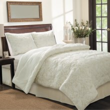 Ivy Hill Home Flowering Vine Comforter Set - Twin, 3-Piece in Taupe - Overstock