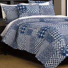 Ivy Hill Home Kaleidoscope Quilt Set - Twin, 2-Piece, Reversible in Blue - Overstock