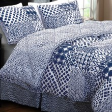 Ivy Hill Home Kaleidoscope Reversible Comforter Set - King, 4-Piece in Blue - Overstock