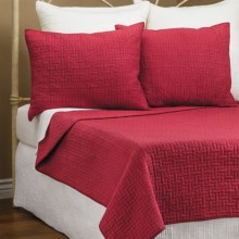 Ivy Hill Home Landon Quilt Set - Full-Queen in Red - Overstock