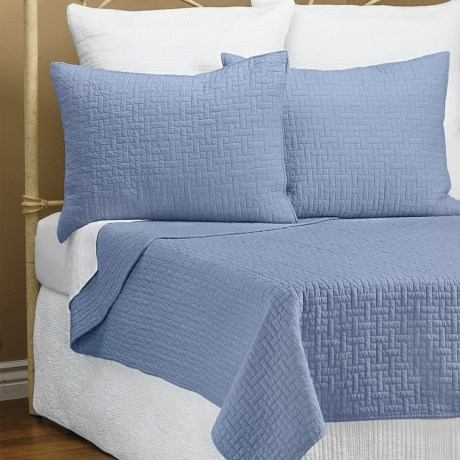 Ivy Hill Home Landon Quilt Set - King in Heritage Blue