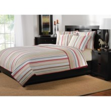 Ivy Hill Home Mesa Stripe Reversible Quilt Set - Full-Queen in Mesa Stripe - Overstock
