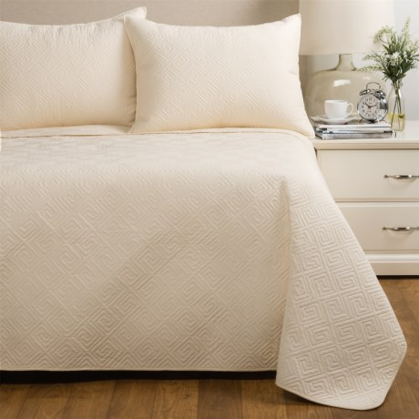 Ivy Hill Home Saxon Quilt Set - Full-Queen in Ivory