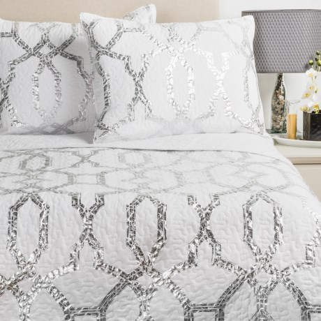 Ivy Hill Home Trellis Quilt Set Full Queen