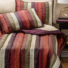 Ivy Hill Home Venetian Stripe Comforter Set - Twin in Multi/Spice - Overstock