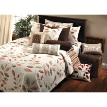 Ivy Hill Home Willow Creek Quilt Set - Reversible, Queen in Spice Stripe - Overstock