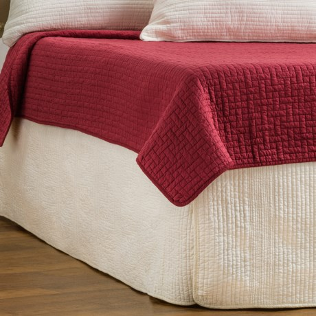 Ivy Hill Home Winslet Quilted Bed Skirt - Full in Ivory