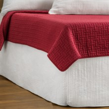 Ivy Hill Home Winslet Quilted Bed Skirt - Full in Whisper White - Overstock