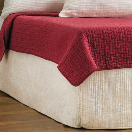 Ivy Hill Home Winslet Quilted Bed Skirt - Queen in Ivory