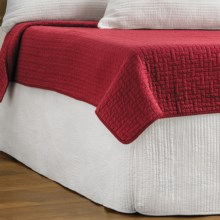 Ivy Hill Home Winslet Quilted Bed Skirt - Twin in Whisper White - Overstock