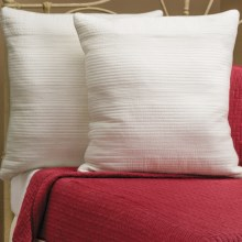 Ivy Hill Home Winslet Single-Needle Pillow Shams - Euro, Quilted Cotton, Pair in Ivory - Overstock