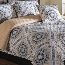 Ivy Hill Home Zola Quilt Set - King, Reversible in Linen/Linen - Overstock
