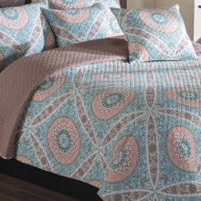 Ivy Hill Home Zola Quilt Set - King, Reversible in Mauve/Fawn - Overstock