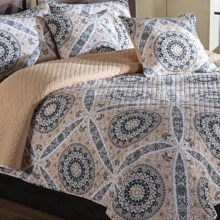 Ivy Hill Home Zola Quilt Set - Queen, Reversible in Linen/Linen - Overstock