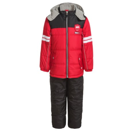 iXtreme Active Color-Block Snowsuit with Snap Pockets - Insulated (For Little Boys) in Red