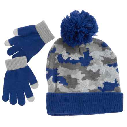 iXtreme Camo Beanie and Gloves Set (For Little Boys) in Royal - Closeouts