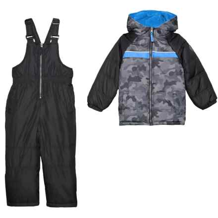 iXtreme Camo Snow Jacket and Snow Bibs Set - Insulated (For Little Boys) in Grey - Closeouts