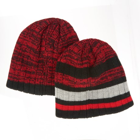 iXtreme Double-Layer Beanie - 2-Pack (For Big Boys) in Red