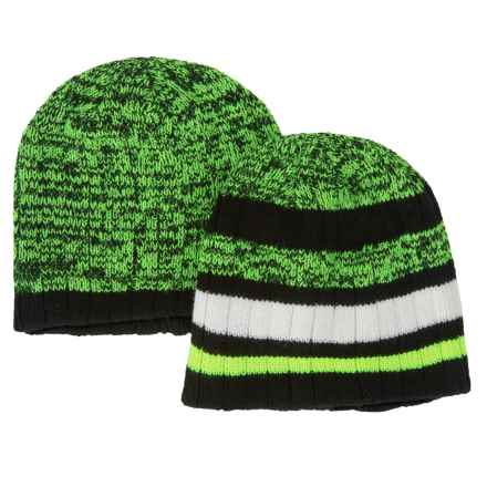 iXtreme Double-Layer Beanie - 2-Pack (For Big Boys) in Safety Yellow - Closeouts