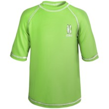 iXtreme Logo Rash Guard - Short Sleeve (For Little Boys) in Lime - Closeouts
