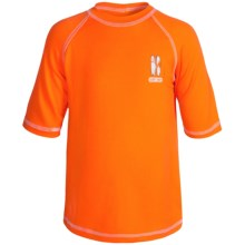 iXtreme Logo Rash Guard - Short Sleeve (For Little Boys) in Orange - Closeouts