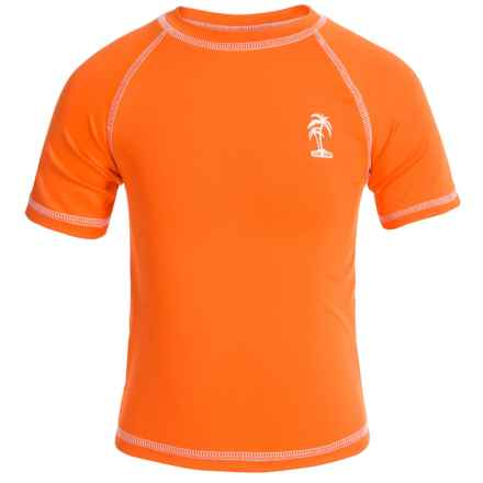 iXtreme Palm Tree Logo Rash Guard - Short Sleeve (For Big Boys) in Orange - Closeouts