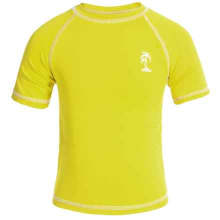 iXtreme Palm Tree Logo Rash Guard - Short Sleeve (For Little Boys) in Acid - Closeouts