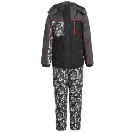 iXtreme Printed Camo Sleeve Snowsuit Set - Insulated (For Little Boys) in Black - Closeouts