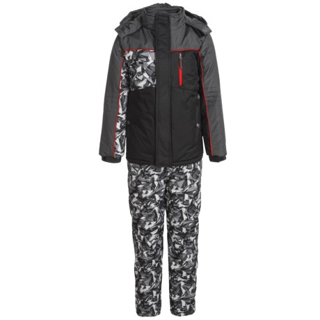 iXtreme Printed Camo Sleeve Snowsuit Set - Insulated (For Little Boys) in Black