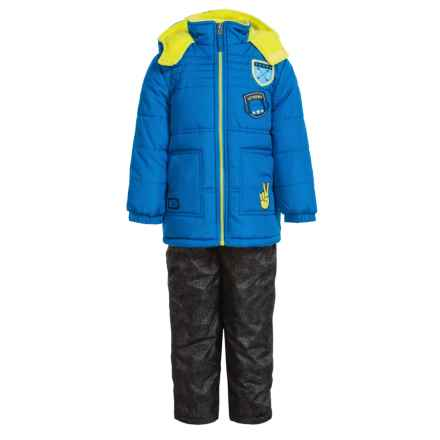 iXtreme Quilted Patch Jacket and Snow Bibs Set - Insulated (For Toddler Boys) in Blue - Closeouts