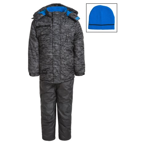 iXtreme Solid Snowsuit Set - Insulated (For Little Boys) in Black