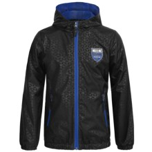 iXtreme Stamp Print Rain Jacket (For Big Boys) in Black - Closeouts