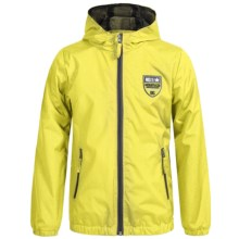 iXtreme Stamp Print Rain Jacket (For Little Boys) in Acid - Closeouts